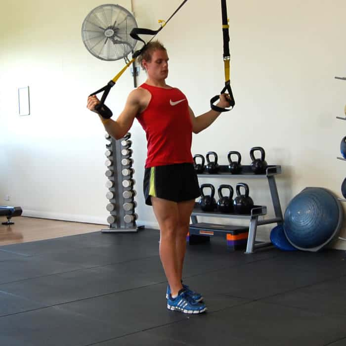 Man performing the TRX external rotation