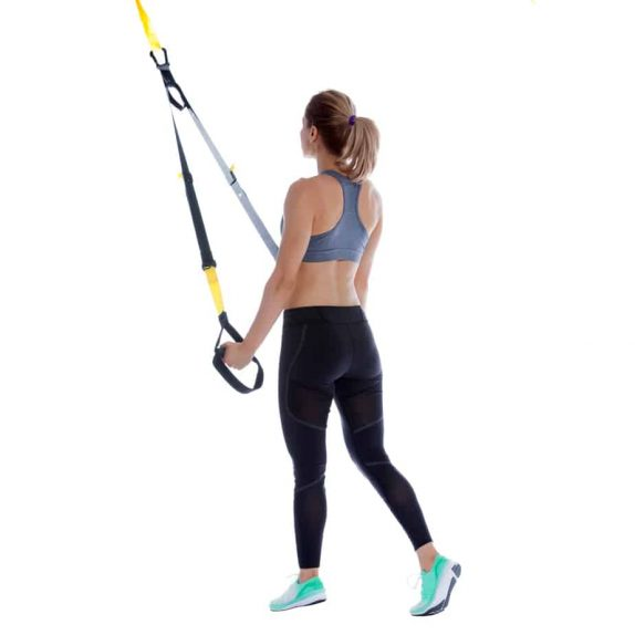 Girl performing TRX Swimmers Pull